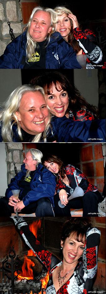 Kim Maclean and Lesley Rochat