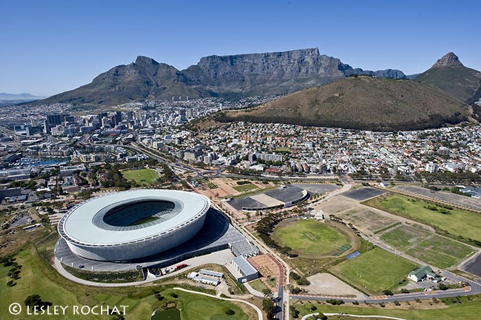 Lesley Rochat Photography - Cape Town Stadium Aerial Photography