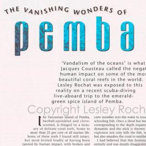 Vanishing wonders of Pemba by Lesley Rochat