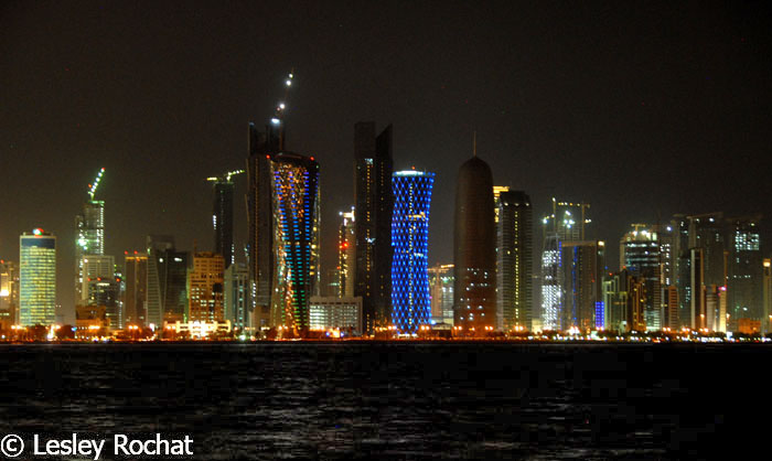 Lesley Rochat Photography - Doha, Qatar at night