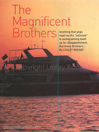 Magnificent Brothers - By Lesley Rochat